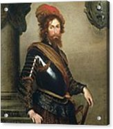 Portrait Of Nicolo Raggi Acrylic Print by Bernardo Strozzi
