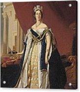 Portrait Of Queen Victoria In Coronation Robes Acrylic Print by Franz Xaver Winterhalter
