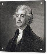 Portrait Of Thomas Jefferson Acrylic Print by Henry Bryan Hall