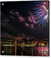 Portsmouth Nh Fireworks 2013 Acrylic Print by Scott Thorp