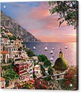 Positano Acrylic Print by Dominic Davison