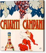 Poster Advertising Chianti Campani Acrylic Print by Necchi