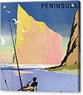 Poster Advertising The Gaspe Peninsula Quebec Canada Acrylic Print by Canadian School