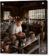 Potter - Raised In The Clay Acrylic Print by Mike Savad