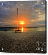 powder-white sand of Seven Mile Beach Acrylic Print by Dan Friend
