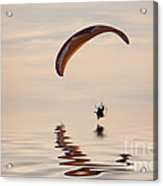 Powered Paraglider Acrylic Print by John Edwards