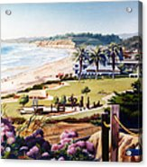 Powerhouse Beach Del Mar Lilac Acrylic Print by Mary Helmreich