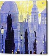 Prague Charles Bridge 03 Acrylic Print by Yuriy  Shevchuk