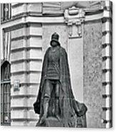 Prague - The Iron Man From A Long Time Ago And A Country Far Far Away Acrylic Print by Christine Till