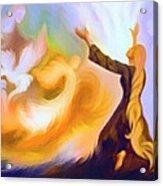 Praise Him Acrylic Print by Susanna  Katherine