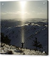 Praise In The Snowies Acrylic Print by Aaron S Bedell