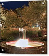 Prescott Park Fountain Acrylic Print by Joann Vitali