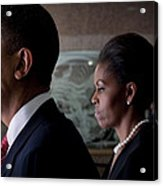 President And Mrs Obama Acrylic Print by Mountain Dreams