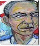 President Barack Obama  Acrylic Print by Derrick Hayes