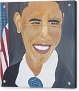 President  Barack Obama Acrylic Print by John Onyeka