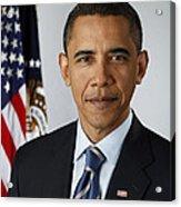 President Barack Obama Acrylic Print by Pete Souza