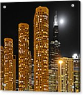 Presidential Towers Chicago Acrylic Print by Christine Till