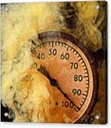 Pressure Gauge With Smoke Acrylic Print by Garry Gay