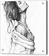 Pretty Lady Acrylic Print by Olga Shvartsur