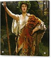 Priestess Bacchus Acrylic Print by John Collier
