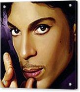 Prince Artwork Acrylic Print by Sheraz A