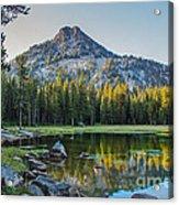 Pristine Alpine Lake Acrylic Print by Robert Bales