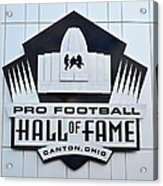 Pro Football Hall Of Fame Acrylic Print by Frozen in Time Fine Art Photography