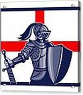 Proud To Be English Happy St George Day Card Acrylic Print by Aloysius Patrimonio