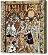 Psalter Of Saint Louis 13th C.. Abraham Acrylic Print by Everett