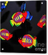 Psychedelic Flying Fish Acrylic Print by Kaye Menner