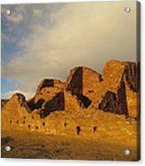 Pueblo Del Arroyo At Sunset II Acrylic Print by Feva  Fotos