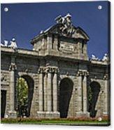 Puerta De Alcala Madrid Spain Acrylic Print by Susan Candelario