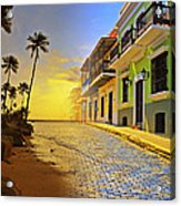 Puerto Rico Collage 2 Acrylic Print by Stephen Anderson