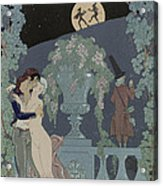 Puppets Acrylic Print by Georges Barbier