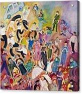 Purim Acrylic Print by Chana Helen Rosenberg
