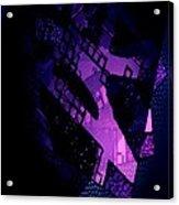 Purple Abstract Geometric Acrylic Print by Mario Perez