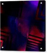 Purple And Red Smoke Acrylic Print by Mario Perez