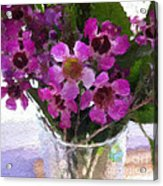 Purple Flowers Acrylic Print by Linda Woods