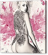 Purple Lake Acrylic Print by Pete Tapang