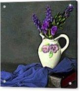 Purple Pardon Acrylic Print by Diana Angstadt