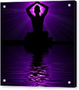 Purple Prayer Acrylic Print by Tim Gainey