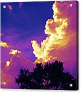 Purple Thunder Acrylic Print by Deborah Fay
