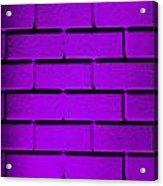 Purple Wall Acrylic Print by Semmick Photo