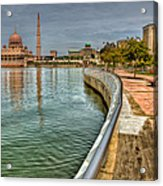 Putra Mosque Acrylic Print by Adrian Evans