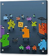Puzzle Family Acrylic Print by Gianfranco Weiss