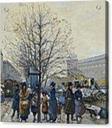 Quai Malaquais Paris Acrylic Print by Eugene Galien-Laloue