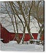 Quebec Winter Acrylic Print by Joshua McCullough