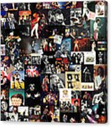 Queen Collage Acrylic Print by Taylan Soyturk