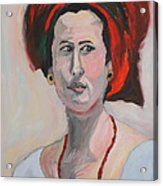 Queen Esther Acrylic Print by Esther Newman-Cohen