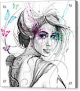 Queen Of Butterflies Acrylic Print by Olga Shvartsur